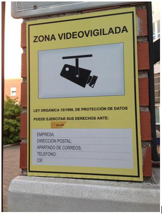 Protecci n de datos privacidad con la venia se or as - Cartel de videovigilancia ...